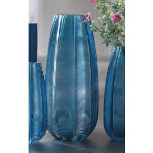 Vysoká sklenená váza modrá, ružová, zelená, alebo sivozelená 15xH35 cm 33121