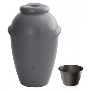 Nádrž plastová na dažďovú vodu v sivej farbe 360 l 27730
