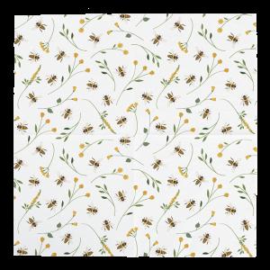 Papierové biele obrúsky so včelím motívom 3 vrstvové 20 ks v balení Esschert design 34782