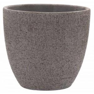 Terakotový okrúhly kvetináč sivý Basic 38 cm 30845