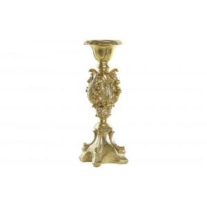 Polyresinový svietnik v zlatej farbe 9 x 9 x 29 cm 35275