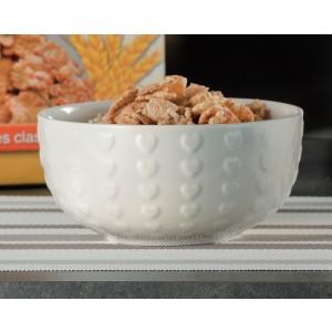 Porcelánová miska so srdiečkami ružová, modrá, hnedá, alebo biela 14x7 cm 33145