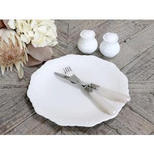 Porcelánový plytký tanier s dekorom Provence Chic Antique 35214