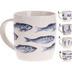 Pohár ryba mix porcelán 26274