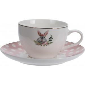 Šálka s tanierikom - vzor zajac 29687