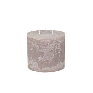 Rustikálna stĺpová sviečka v sivohnedej farbe 15x15 cm Chic Antique 33777