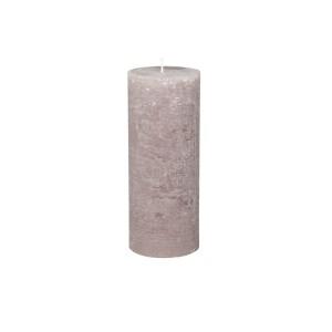 Rustikálna stĺpová sviečka v sivohnedej farbe 25x10 cm Chic Antique 33773