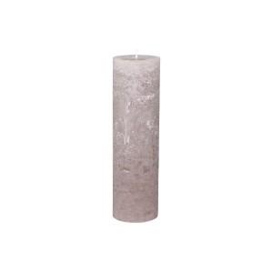 Rustikálna stĺpová sviečka v sivohnedej farbe 35x10 cm Chic Antique 33775