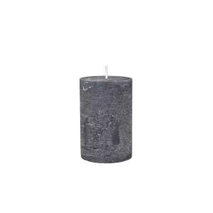 Rustikálna stĺpová sviečka v sivej farbe 5x10 cm Chic Antique 34220