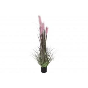 Ružová tráva v kvetináči 30x30x150 cm 32807