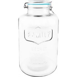 Fľaša sklo s uzáverom Family 1,5l 27473