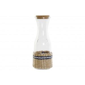 Sklenená fľaša v ratanovom košíku s korkovým uzáverom 1 liter 32793