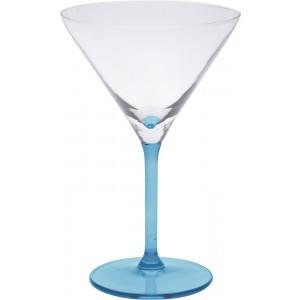 Sklenený koktailový pohár na stopke v modrej farbe 260 ml 35080