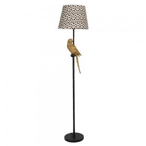 Stojaca lampa so zlatým papagájom Clayre & Eef 34549
