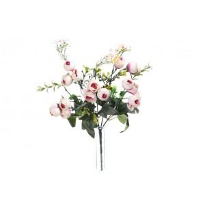 Umelá kytica bielo ružových kvietkov anemone 30 cm 33804