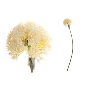 Umelý cesnakový kvet bielej farby na stonke 66 cm 35194