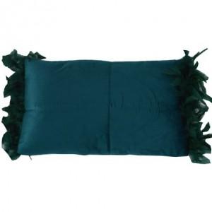 Vankúš s obliečkou tmavo modrou dekorovanou pierkami 33834