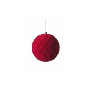 Vianočné gule zamatové v štyroch farbách 10 cm 32874