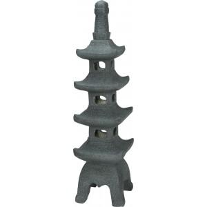 Záhradná dekorácia pagoda antracitová 34233