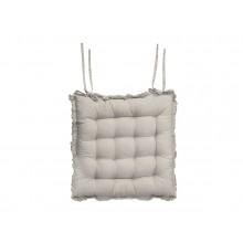 Béžový bavlnený prešívaný podsedák na stoličku 40x40 cm C...