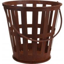 Kovové ohnisko v tvare košíka v hrdzavom vzhľade 39cm 29657