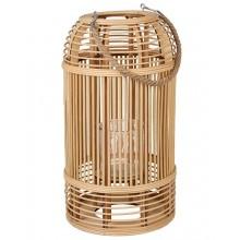 Lampáš prútený bambusový v prírodnej farbe s ľanovým uško...