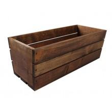 Truhlík drevený hnedý 40x18x15h cm 31143