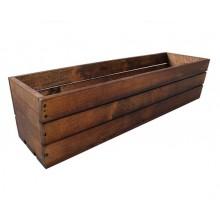 Truhlík drevený - hnedý 28926