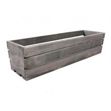 Truhlík drevený - sivý, 60cm 32174