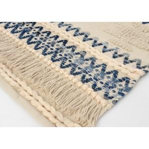 Koberec modro-béžový, bavlnený, 60x90cm 32146