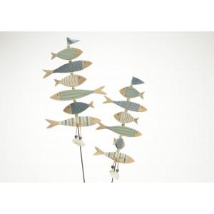 Ryby napichovačka drevená - menšia, 60x0,7x14cm cm 32119