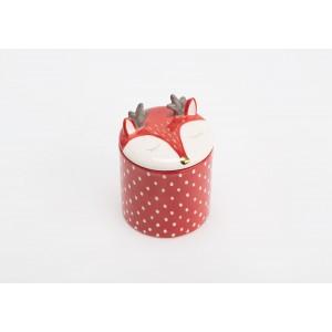 Dóza jeleň - červená, 13x9cm 32081