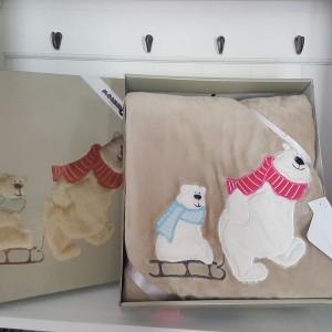 Detská deka medveď 21517