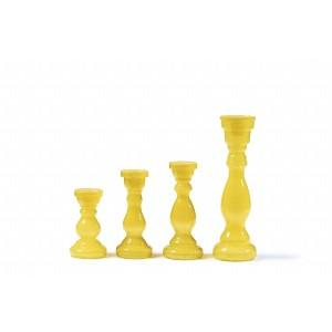 Svietnik žltý 17cm 26033