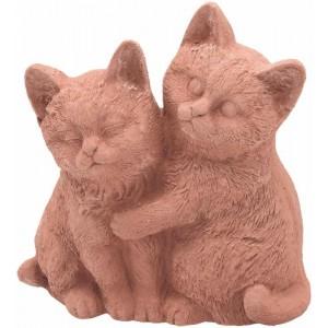 Terakotové mačky párik 30758