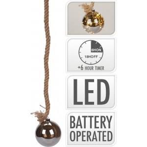 Osvetlenie 10 LED, špagát s guľou - dĺžka 1m 32049
