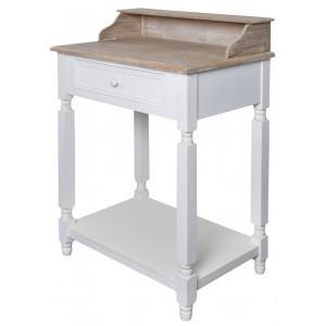 Stolík so šuflíkom, drevený 28782