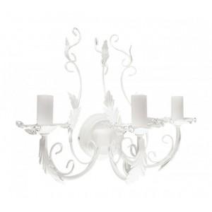 Lampa na stenu kov+sklo 24657