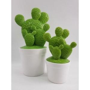 Dóza kaktus keramika zelená 24939