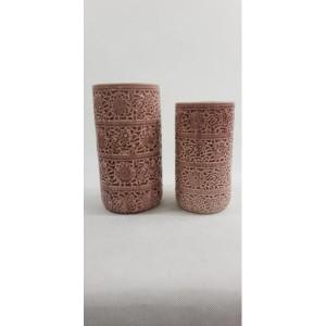 Kvetináč keramický bordový 28x15cm 25803