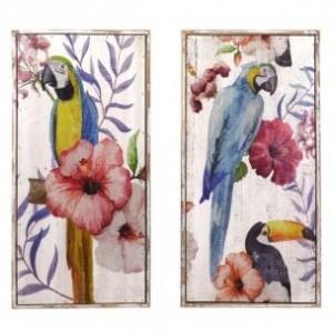 Obraz drevo papagáj 30x60x3,5cm 27604