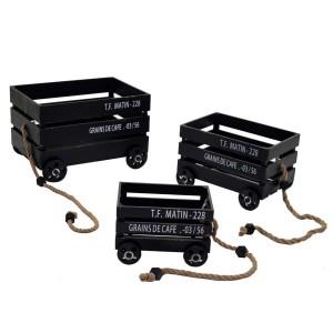 Vozík drevený - mix 29472