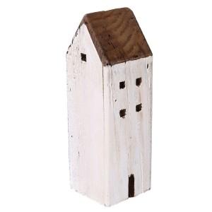 Domček drevený bielo-hnedý 31590