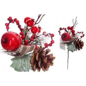 Konárik vianočný - jarabina, šišky 28858