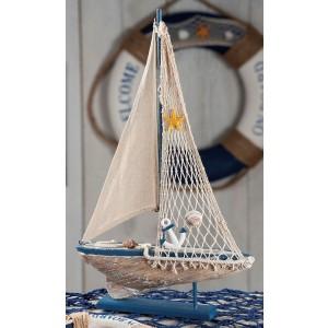 Drevená loď 29,5x5x47cm 27863