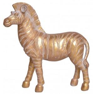 Zebra - zlatej farby, polyresin 29882