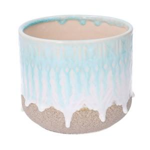 Kvetináč keramický, modro-biely 31616