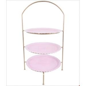 Etažér kov ružový 29x54cm 26514