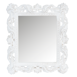 Zrkadlo vyrezávané biele 24570