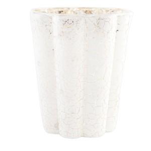 Svietnik sklo biela 9x10cm 23259